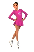 ChloeNoel DLF38 Fleece Ice Skating Dress