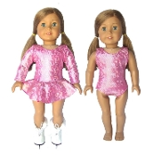 18in Doll Ice Skating Dress & Gymnastics Leotard