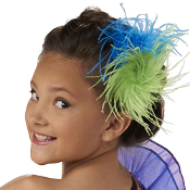 Girls Ostrich Feather Hair Clip