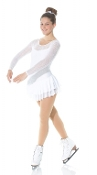 Mondor 636 White Figure Skating Dress