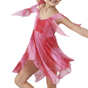 Fire & Ice Glitter Chiffon Dance Dress