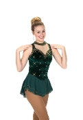 Jerry's 217 Emerald Etiquette Figure Skating Dress