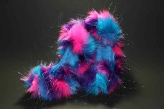 Fuzzy Soakers Glitter Crazy Fur - Turquoise, Pink, Purple