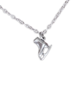 Sterling Silver Figure Skate Necklace