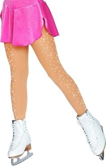 ChloeNoel TB8830 Footed Tights w/ Crystals 2 Sides