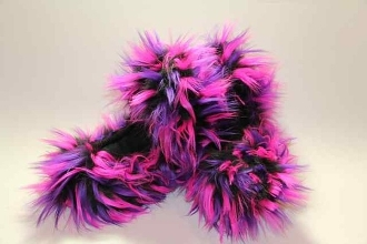 Fuzzy Soakers Crazy Fur - Black, Pink & Purple