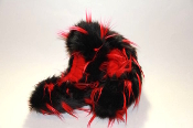 Fuzzy Soakers Crazy Fur - Black & Red