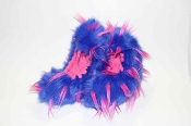 Fuzzy Soakers Crazy Fur - Blue, Hot Pink