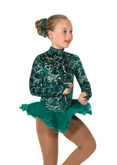 Jerry's 21 Emeraldella Figure Skating Dress