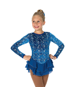 Jerry's 53 Bow Blue Figure Skating Dress