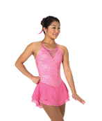 Jerry's 66 Lacy Bows Figure Skating Dress