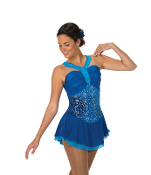 Jerry's 93 Jewel Blue Figure Skating Dress