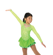 Jerry's 40 A Twist of Lime Figure Skating Dress