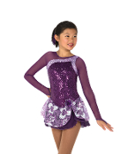 Jerry's 45 Tryst of Amethysts Figure Skating Dress