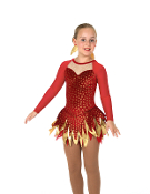 Jerry's 46 Feather & Flame Figure Skating Dress
