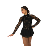 Jerry's 75 Liquid Onyx Figure Skating Dress