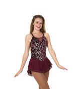 Jerry's 79 Bordeaux Berry Figure Skating Dress