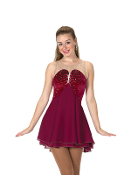 Jerry's 86 Claret & Crystals Figure Skating Dress