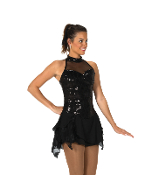 Jerry's 96 Black Lights Figure Skating Dress