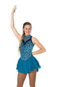 Jerry's 105 Teal Reveal Figure Skating Dress