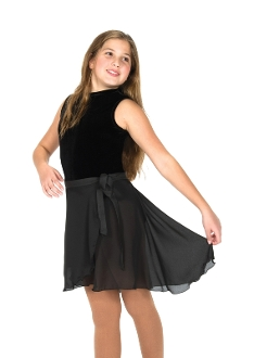 Jerrys 310 Dance Length Black Wrap Skirt