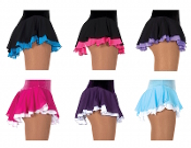 Jerrys 305 Double Ruffle Figure Skating Skirt