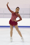 Jerry's 236 Garnet Glimmer Figure Skating Dress