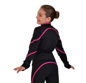 ChloeNoel J76 Color Piping Figure Skating Jacket