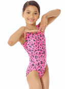 Mondor 7822 Coral Leopard Girls Gymnastics Leotard