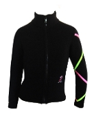 Ice Fire XJ711 Fleece Figure Skating Jacket - Criss Cross