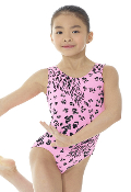 Mondor 7822 Pink Animal Girls Gymnastics Leotard