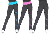 ChloeNoel PS96 Crystal Spiral Ice Skating Pants