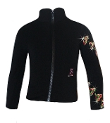 Ice Fire Fleece Figure Skating Jacket - Skate Swirls