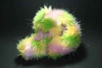 Fuzzy Soakers Glitter Crazy Fur - Pink, Lime, Yellow