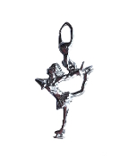 Sterling Silver Figure Skater Charm