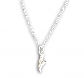 Sterling Silver Ballerina Shoe Pendant Necklace