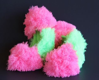 Fuzzy Soakers Poodle Curl - Hot Pink & Green