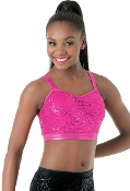 Balera Sequin Performance Bra Top