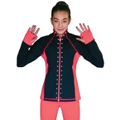 ChloeNoel JS792 Color Contrast Figure Skating Jacket