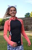ES Performance Melange Long Sleeve Half-Zip Top