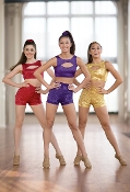 Balera High Waist Sequin Dance Shorts