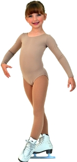 ChloeNoel Long Sleeve Nude Leotard
