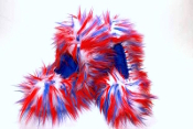 Fuzzy Soakers Crazy Fur - Red, White & Blue