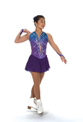 Jerry's 218 Mist on Amethyst Figure Skating Dress