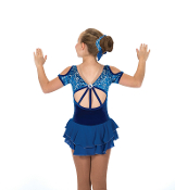 Jerry's 207 Cobalt Cut-Out Figure Skating Dress