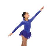 Jerry's 157 Royal Purple Ice Skating Dress