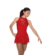 Jerry's 219 Champagne Sequins Figure Skating Dress