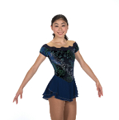 Jerry's 215 Sonnets & Sapphires Figure Skating Dress