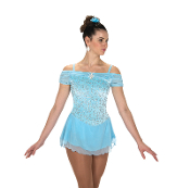 Jerry's 216 Shirred Shoulders Figure Skating Dress