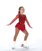 Jerry's 27 Ice on Rubies Figure Skating Dress
